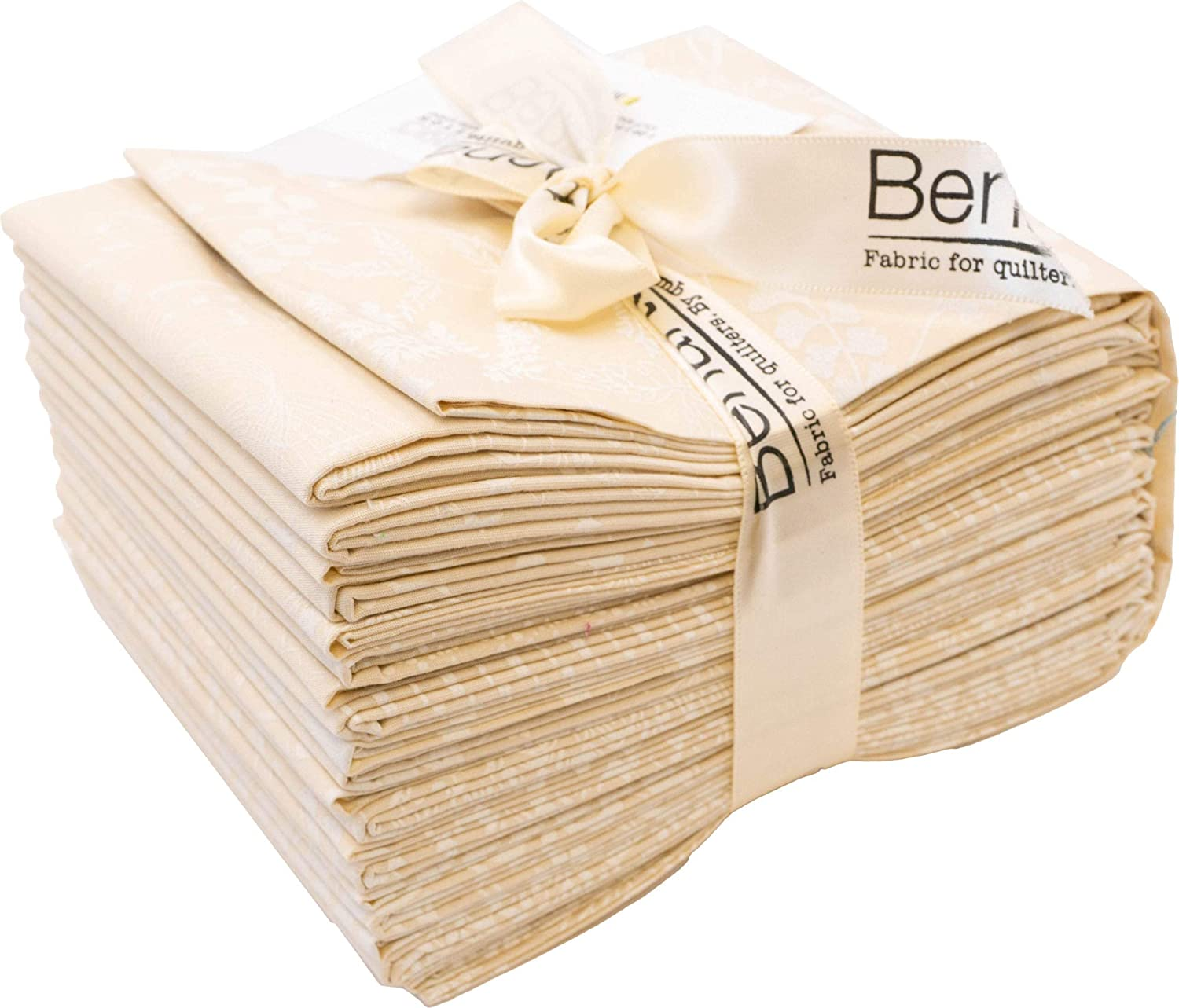 KanvasBetter Basics Ecru 20pc Fat Quarter Bundle Benartex