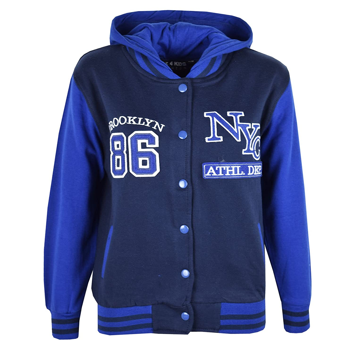 A2Z 4 Kids® Unisex Kids Girls Boys Baseball NY ATHLATIC Hooded ...