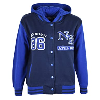 b86a2ec065f9 A2Z 4 Kids® Unisex Kids Girls Boys Baseball NY ATHLATIC Hooded ...