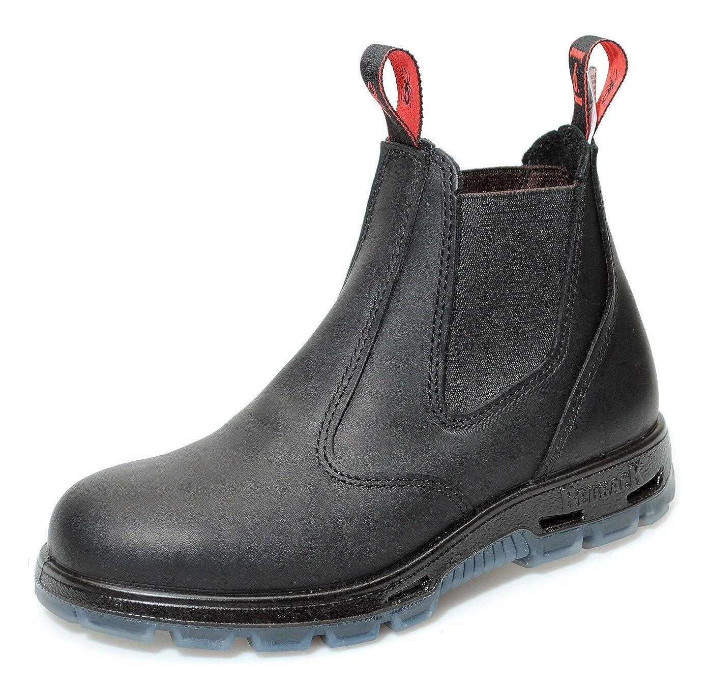 Redback USBBK Safety Work Boots aus Australien - mit Stahlkappe ml - Unisex + 250 ml Stahlkappe Lederpflege   Black/Schwarz Schwarz (Black) 7a8f14