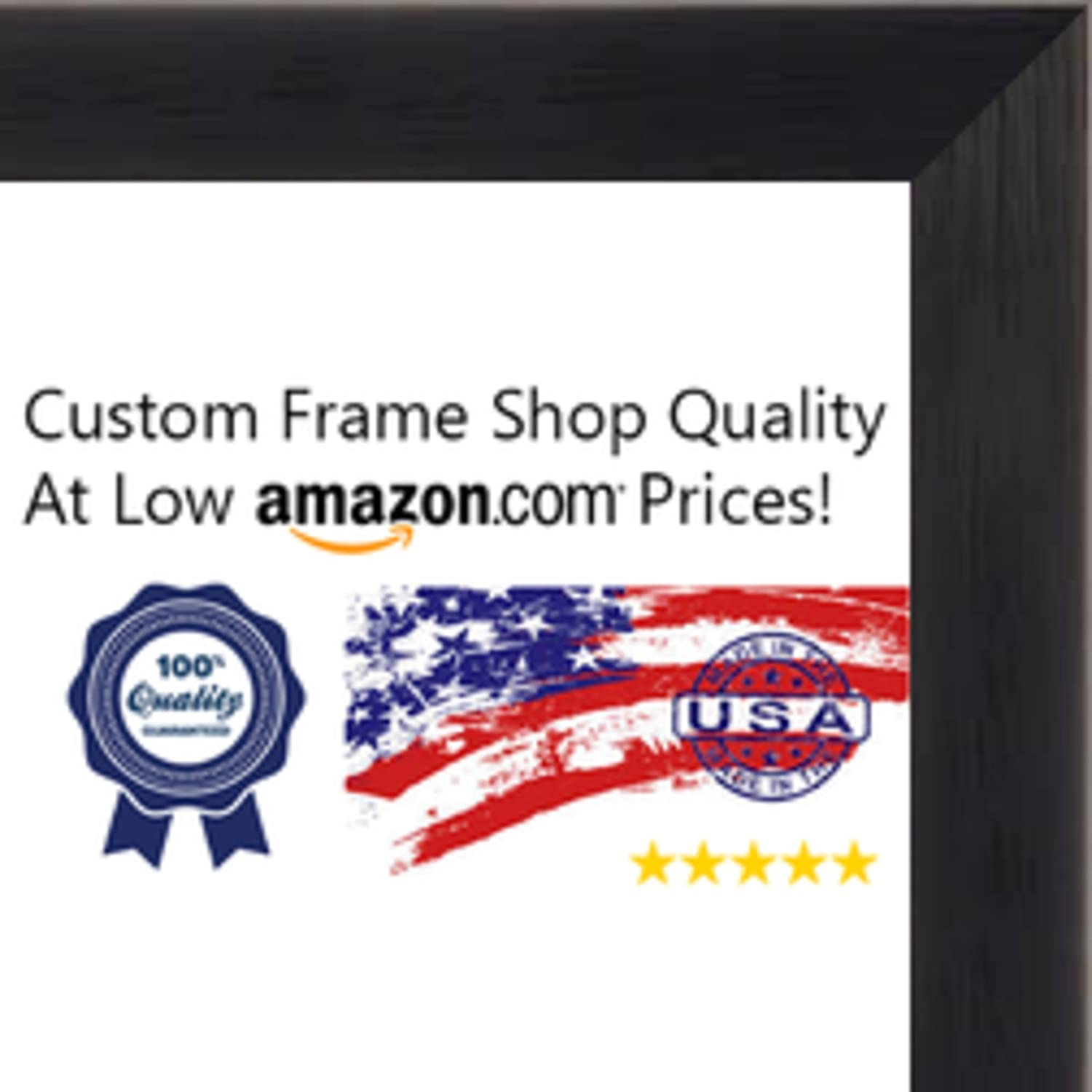 Amazon.com - 24x24 Rustic Black Wood Shadow Box Square Frame - UV ...