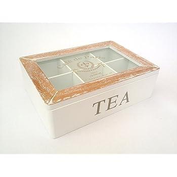 Amazon Com White French Tea Box Tea Bag Storage Chest 6