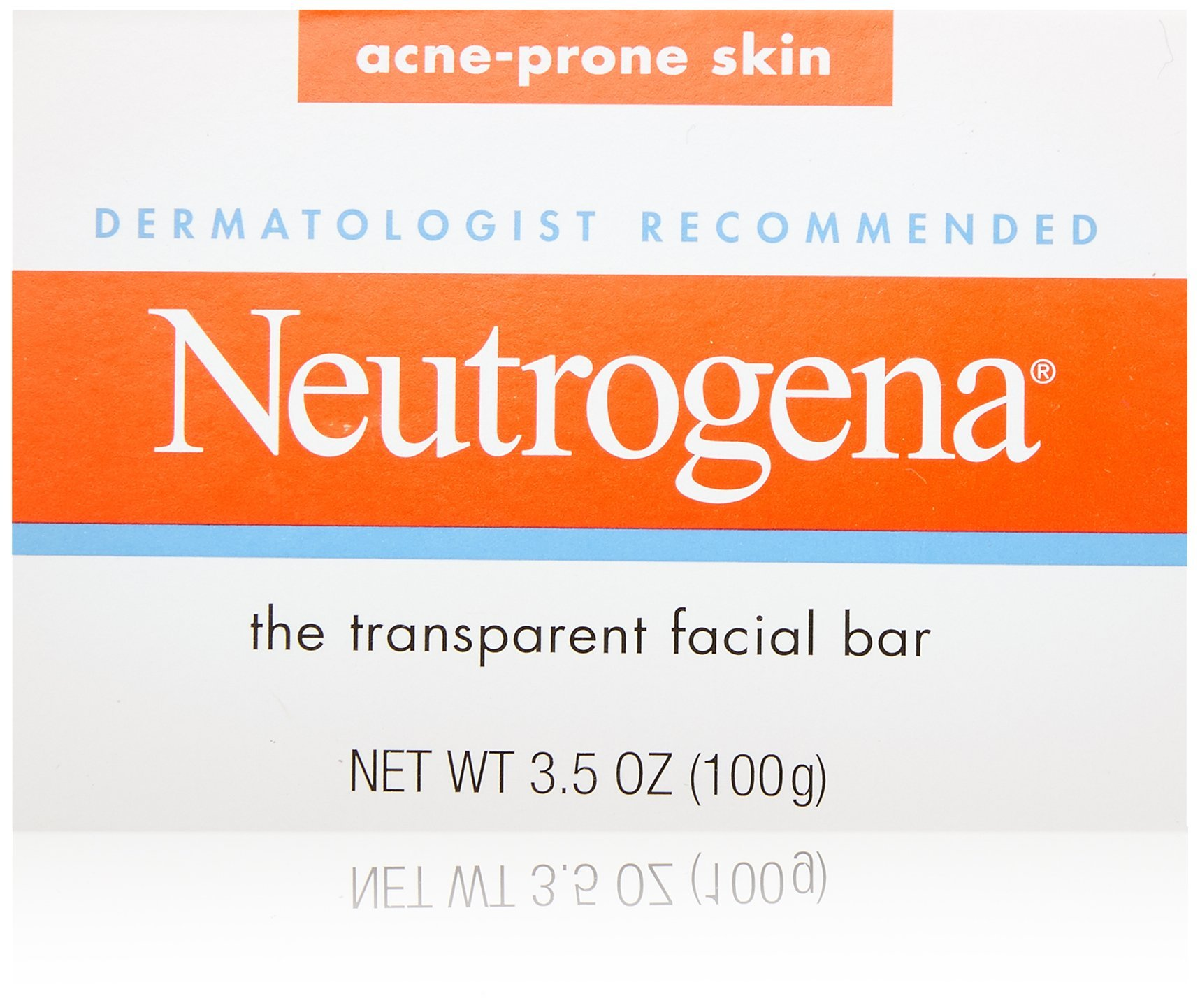 Neutrogena Transparent Facial Bars, Acne-Prone Skin Formula, 3.5 Ounce (Pack of 8) by Neutrogena