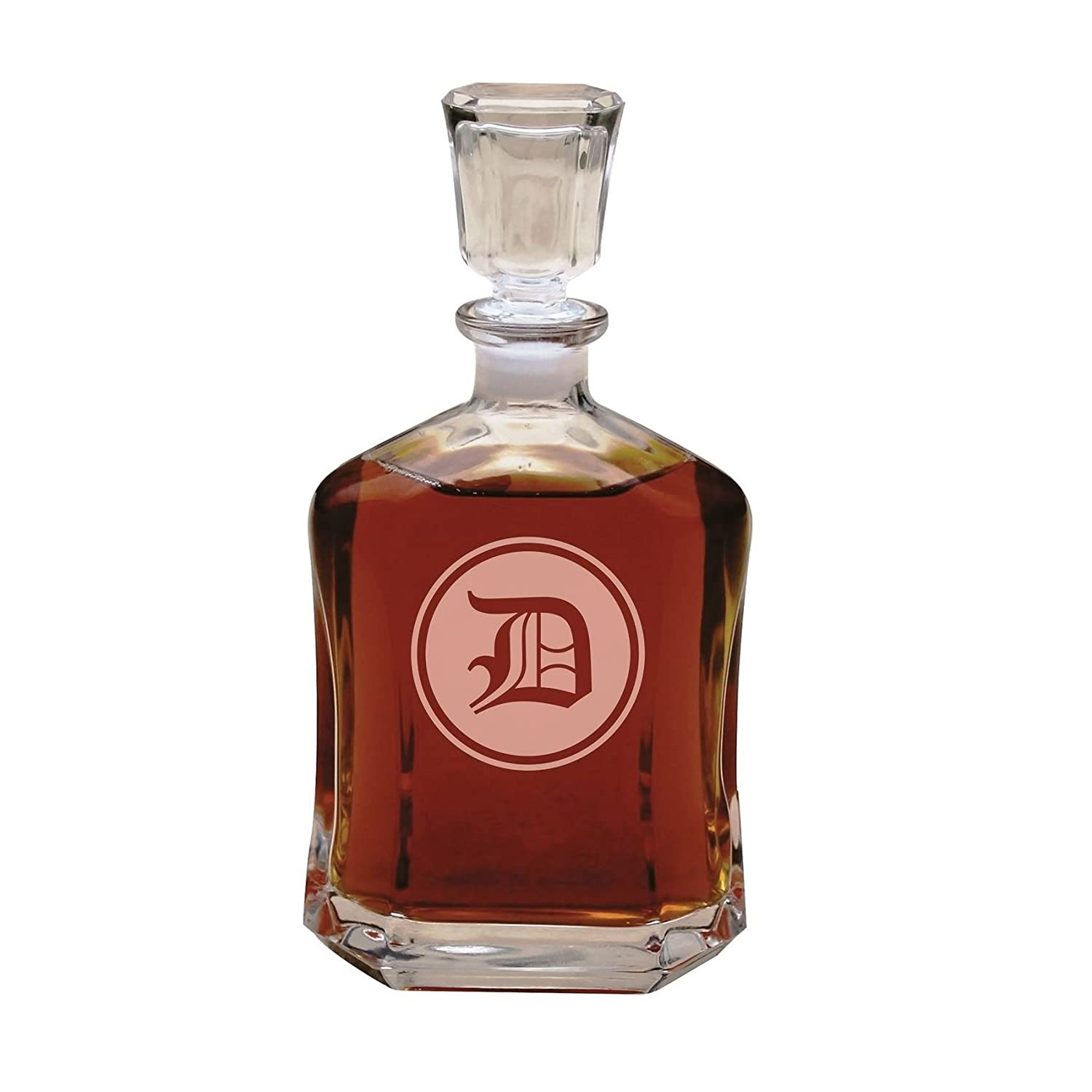 Amazon.com | Personalized Decanter, Custom Engraved Glass Whiskey ...