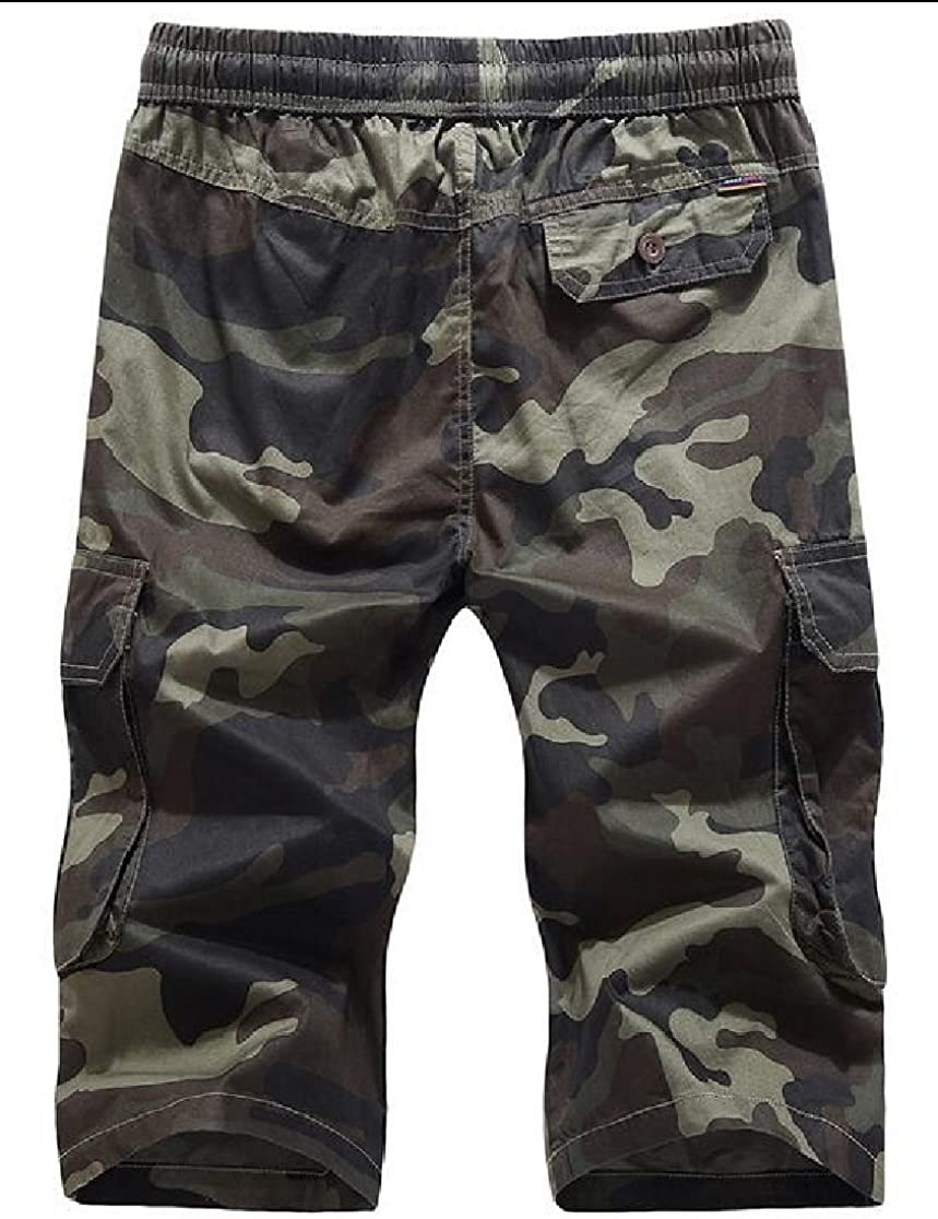 M/&S/&W Mens Cotton Beach Pockets Camouflage Cargo Shorts