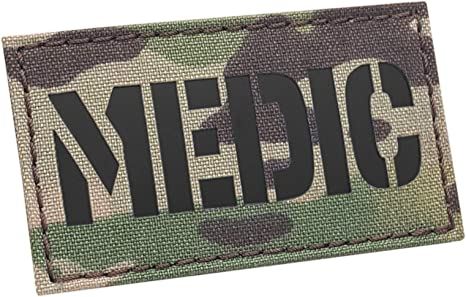IR Multicam Medic 2x3.5 Med Medical EMS OCP Tactical Morale Touch Fastener Patch