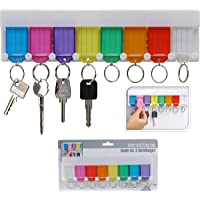 White Wall Mounted Hanging Multi Key Rack Holder Plastic Tags