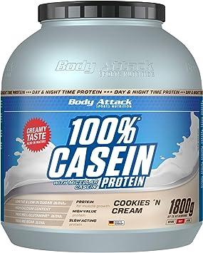 Body Attack 100% proteína de caseína, rico en aminoácidos esenciales, desarrollo de músculos, bajo en carbohidratos para, los atletas y las personas ...