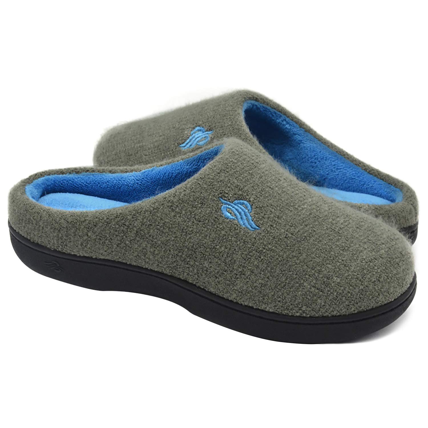 Wishcotton Women's Contrast Color Warm Cotton Slippers with Arch Support Winter Breathable Indoor/Outdoor House Shoes
