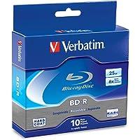 Verbatim BD-R 25GB 6X Blu-ray Recordable Media Disc - 10 Pack Spindle