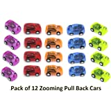 """Mini Pull Back and Let Go Fast Racing Car - Pack of 12 - 2"""" Assorted Colors Racer Vehicles - AMAZING Gift idea!"""