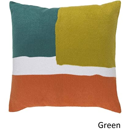 Amazon.com: AW 1 pieza 20 x 20 verde naranja manta almohada ...