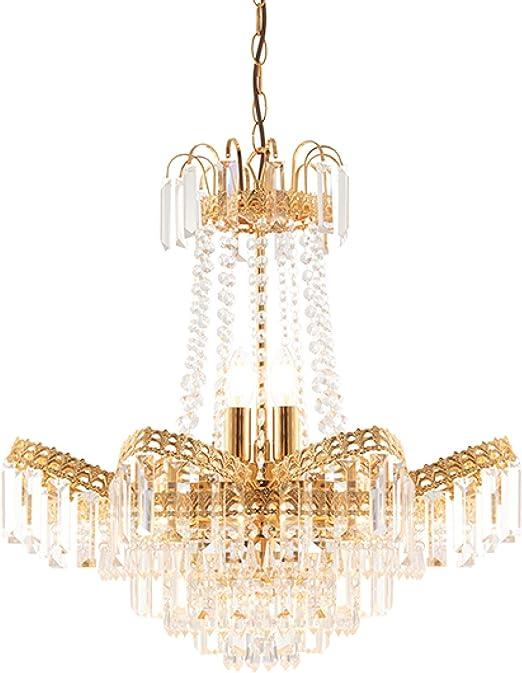 9 Light Crystal Chandelier Amazon Co Uk Lighting