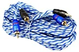 2 Rockville RTR172 17 Foot Twisted Pair RCA