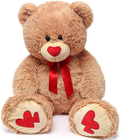 "39/"" Giant Teddy Bear Plush Stuffed Big Animal Toys Valentine Kids Birthday Gifts"