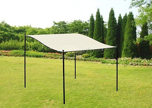 Westwood Metal montado en la pared Gazebo toldo Patio de jardín Marquee refugio toldo Pergola para puerta porche 3 m x 2, 5 m Beige: Amazon.es: Jardín