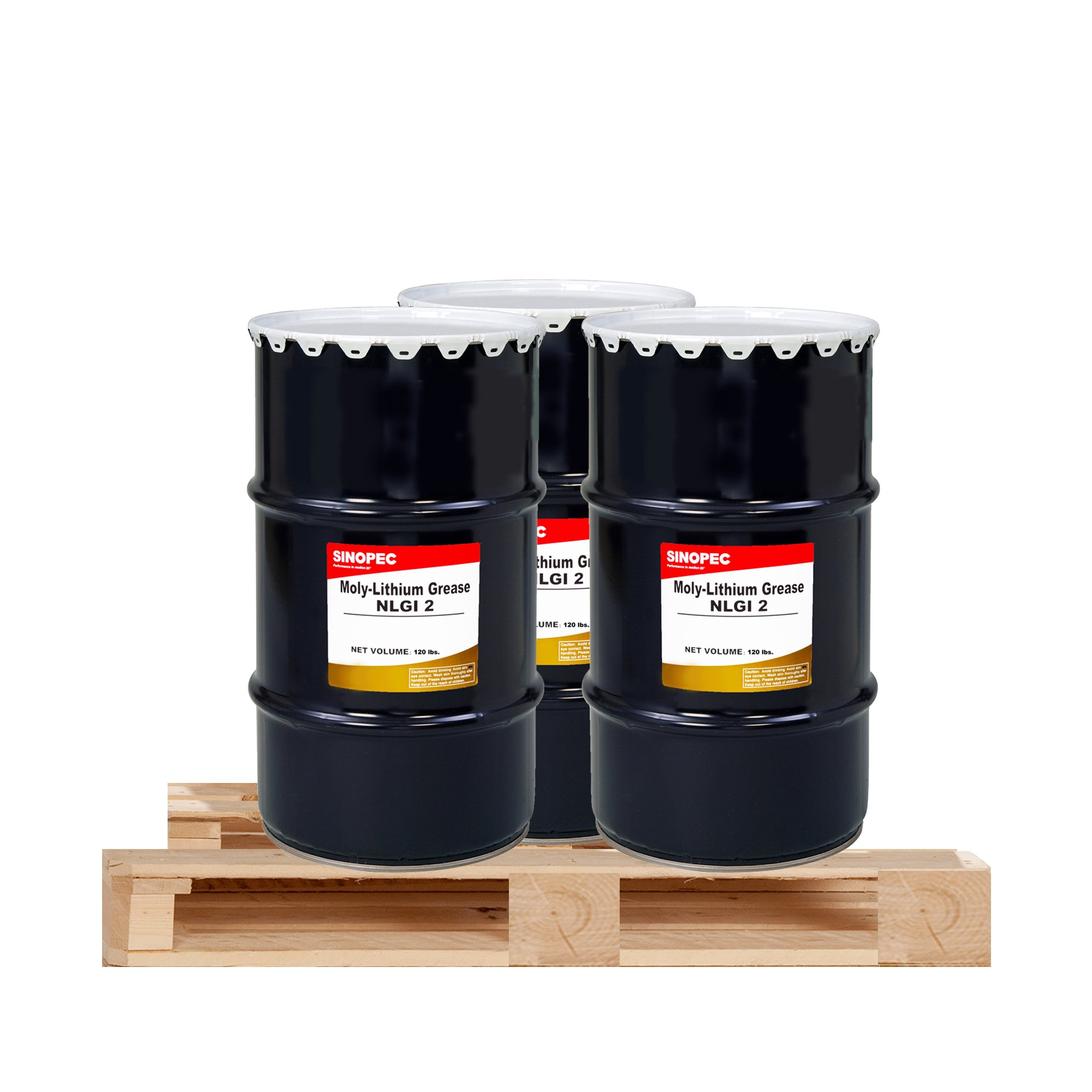 $250 Each- (3) Kegs Moly Extreme Pressure Lithium Grease #2 - 120LB. (16 Gallon) by Sinopec