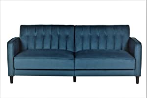 US Pride Furniture Grattan Luxury Sofa Bed, Teal Blue