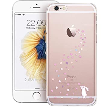 esr iPhone 6/6s Funda, Suave Carcasa iPhone 6/6s Case Cover Silicona Funda para Apple iPhone 6 / iPhone 6s - Conejito Floral