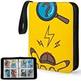 YINKE Case Binder for Pokemon Card, Game Cards, Holds Up to 400 Cards with 50 Premium 4-Pocket Page, Hard Organizer Carry Cov