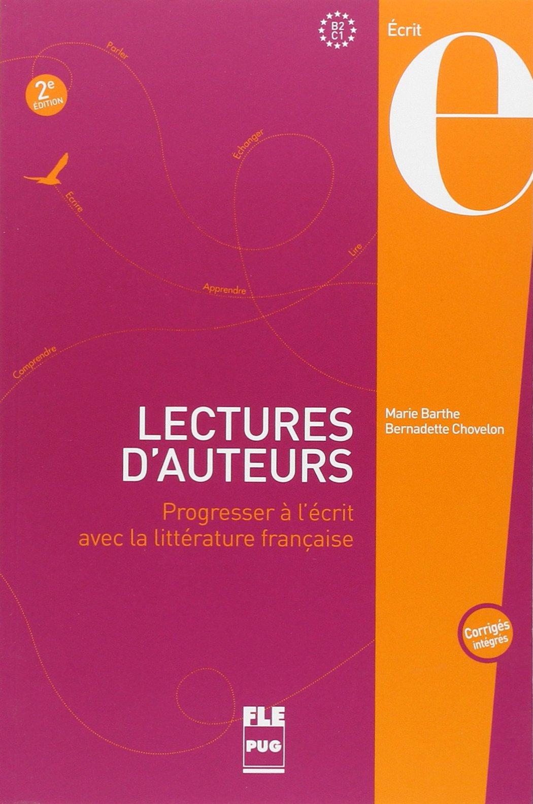 Lectures dauteurs - livre eleve avec corriges - 2edt: Amazon.es: Marie Barthe, Bernadette Chovelon: Libros en idiomas extranjeros