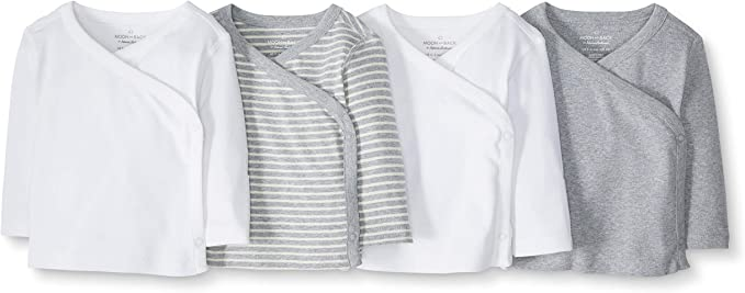 Moon and Back by Hanna Andersson 4 Pack Camisole Unisex-Bimbi 0-24
