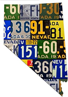 product image for NEVADA License Plate Plasma Cut Map Sign, THE SILVER STATE Metal Sign Garage Art Great Gift Man Cave Plasma Cut Aluminum UV Printed Rustic Sign Birthday Gift Patriotic Sign Holiday Gift