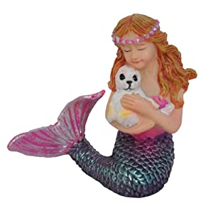 Miniature Fairy Garden Mermaid and Seal