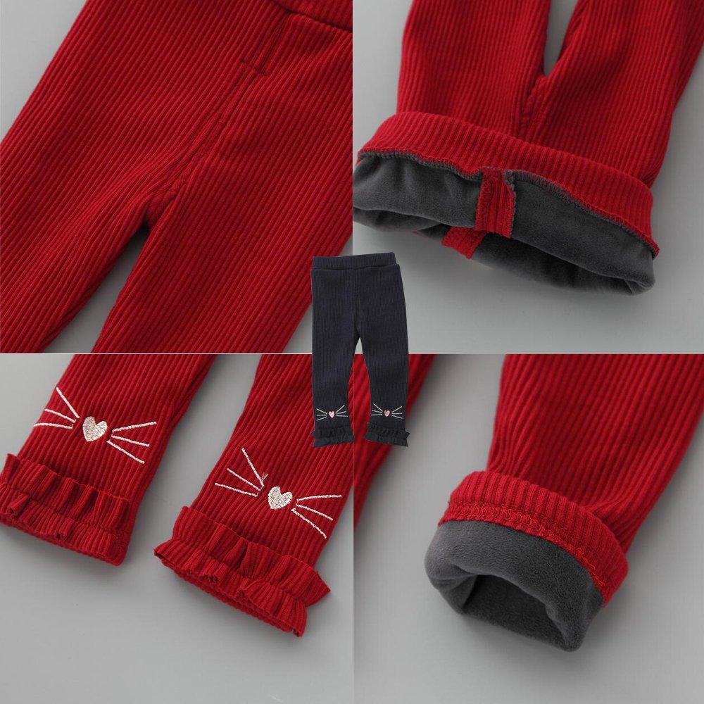 KINDOYO Baby Girls Cotton Leggings Pattern Casual Long Trouser Pants