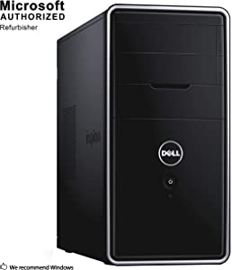 Dell Inspiron 3847 Tower Business Desktop PC, Intel Core i3 4150 3.5GHz, 8G DDR3, 2T, WiFi, BT 4.0, DVD, Windows 10 64-Multi-Language Support English/Spanish/French(Renewed)