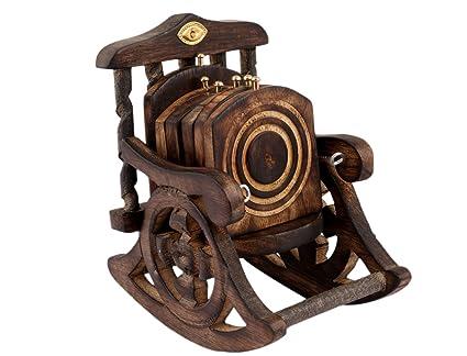 Image Unavailable  sc 1 st  Amazon.com & Amazon.com | SAARTHI Beautiful Miniature Rocking Chair Design Wooden ...