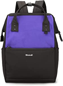 Himawari Laptop Backpack Travel Backpack With USB Charging Port Large Diaper Bag Doctor Bag School Backpack for Women&Men (0711-Purple)
