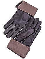 YISEVEN Women's Touchscreen Sheepskin Cuffed Leather Gloves Diva Stylish