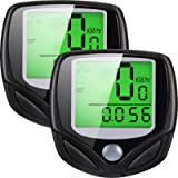 2 Pack Multi-Functions Bicycle Speedometer Wireless Bike Odometer Waterproof Cycle Computer with LCD Display for Outdoor…