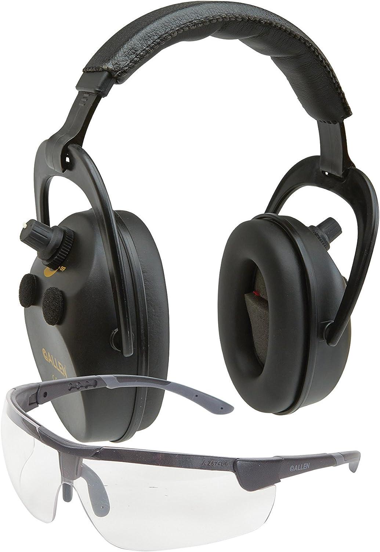 Allen Axion Ballistic Muff & Glasses Combo, Black