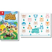Animal Crossing New Horizons - Nintendo Switch Standard Edition + Animal Crossing Microfibre Cloth (Exclusive to Amazon.co.uk)