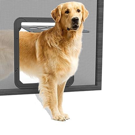 Lesypet Puerta giratoria para perros y gatos, tamañ ...