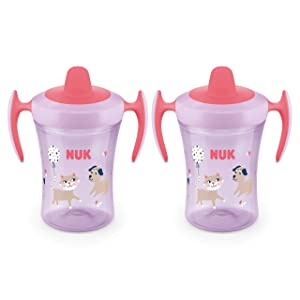 NUK Evolution Soft Spout Learner Cup, 8 oz, 2-Pack