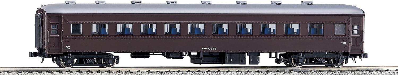 B0003K5H4G Kato 1-514 Ohafu 33 Passenger Car, Brown 71TUPSkPh0L.SL1500_