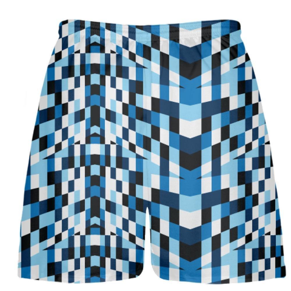 Youth Fruitcake Blocks Blue Lacrosse Shorts Blue Mens Boys Lacrosse Shorts Youth
