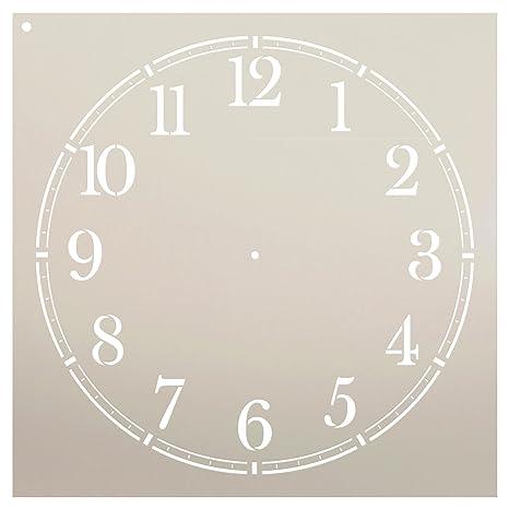 StudioR12 - Reloj de pared para casa de café, diseño de números clásicos – Plantilla