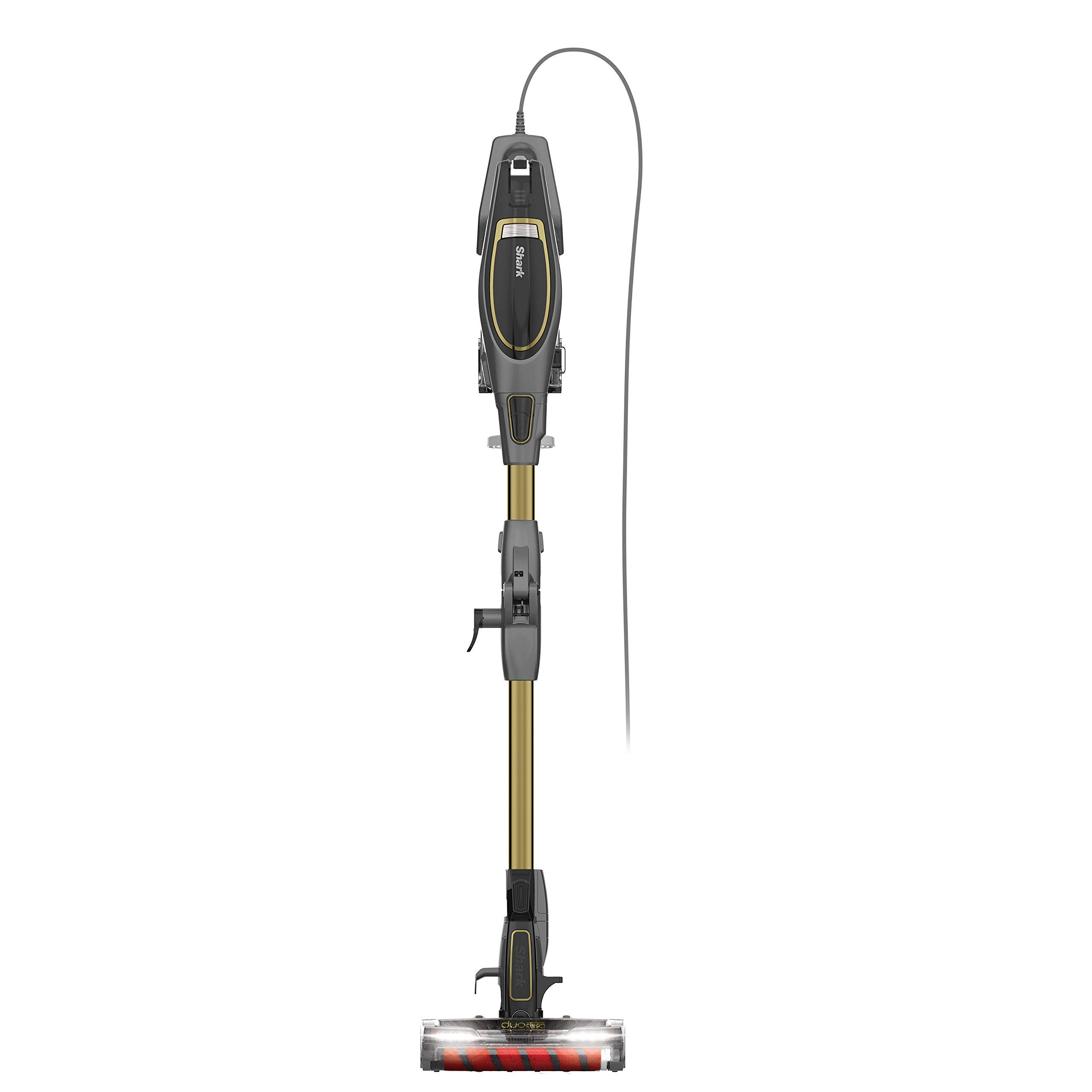 Shark Flex DuoClean Ultra-Light Upright Corded Vacuum for Pet, Carpet and Hard Floor Cleaning with Lift-Away Hand Vacuum (HV391), Gray/Gold (Renewed)