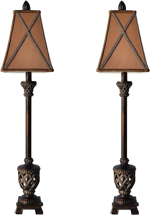 Amazon.com: Juego de 2 lámparas de mesa MESTAR de 35 ...