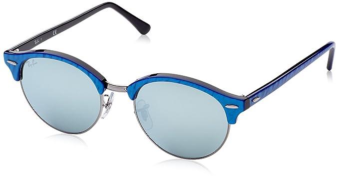 a0905d1356 Amazon.com  Ray-Ban Unisex RB4246 984 30 Clubround Sunglasses Blu on ...