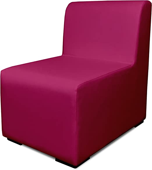 SUENOSZZZ-ESPECIALISTAS DEL DESCANSO Sofa Exterior Modular Benahavis 1 Plaza Color Fucsia tapizado en Polipiel Silva. Chill out Jardin o recepcion.: Amazon.es: Hogar