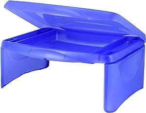 Deluxe Folding Lap Desk Tray, Blue