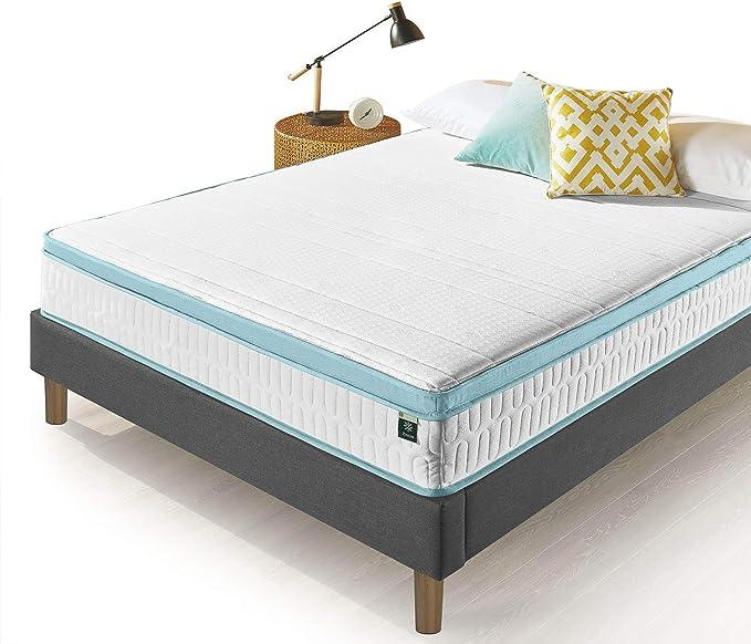 Amazon Com Zinus 10 Inch Mint Green Memory Foam Hybrid Spring Mattress Queen Furniture Decor