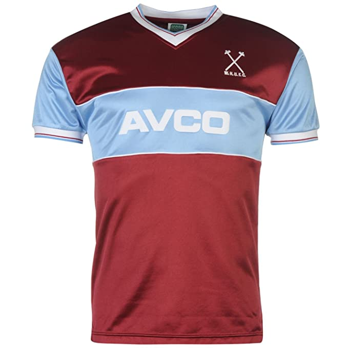 Score Draw Hombre West Ham United Futbol Club 1983 Home Jersey Deporte Camiseta