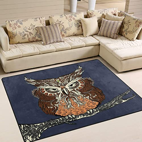 ALAZA Vintage Stylish Owl Bird on The Branch Area Rug Rug