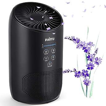 PARTU Purificador de aire - 3 niveles de filtrado purificador de ...